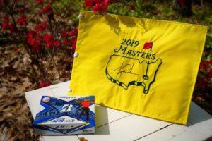 Tiger Woods signed Masters flag